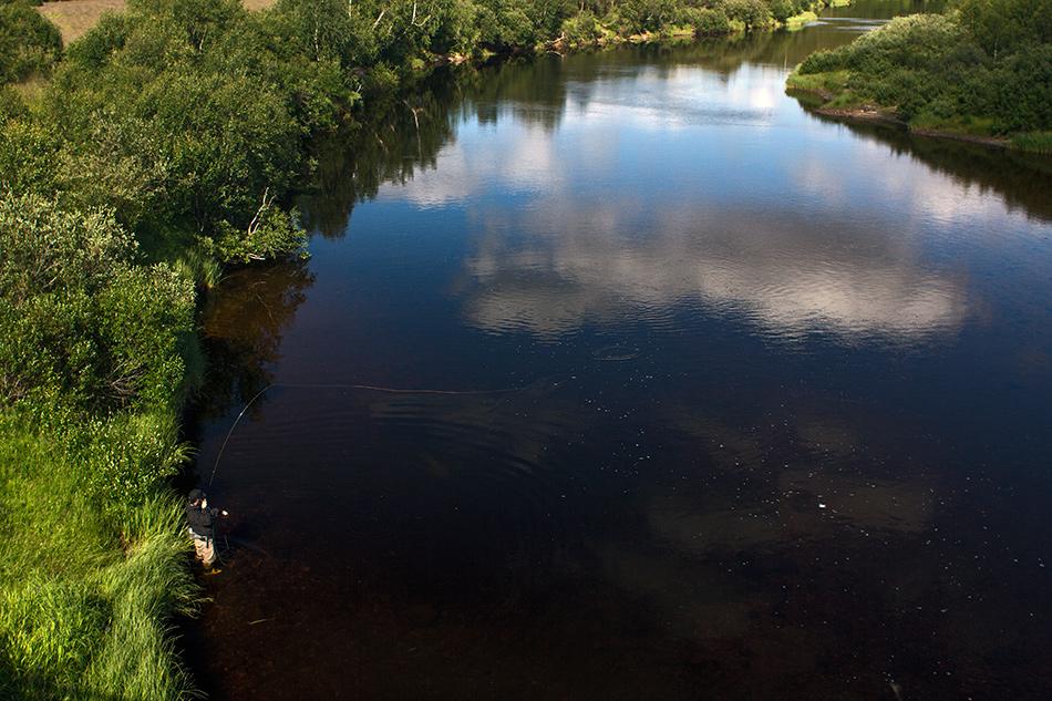Den vad i den elv. Foto: Anders Thormodsæter