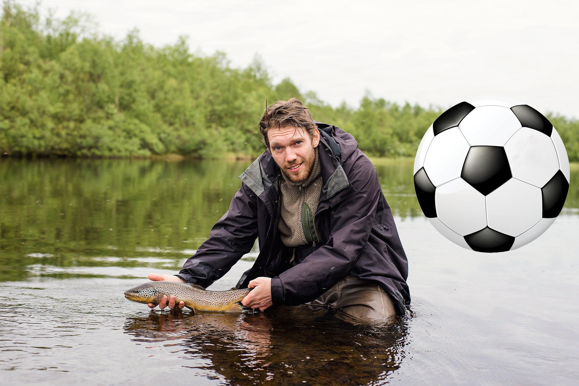 Slank fisk og stor ball.